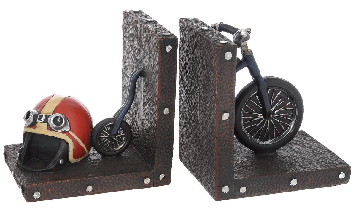 Набор держателей для книг Miolla Ретро велосипед, 2 штC2512109Набор держателей для книг Miolla Ретро велосипед, выполненный из полирезина, станет отличным подарком и необычным украшением интерьера. Оригинальный дизайн выделяет эти держатели из множества других.Расположив такой необычный предмет на своем рабочем столе или на полке с книгами, обладатель данного аксессуара непременно подчеркнет свое стремление оставаться модным и стильным в каждой детали.Сочетание оригинального дизайна и хорошего качества позволит представить такой подарок в самом выигрышном свете.Размеры одной части: 12,5 см х 9,5 см х 13,5 см.