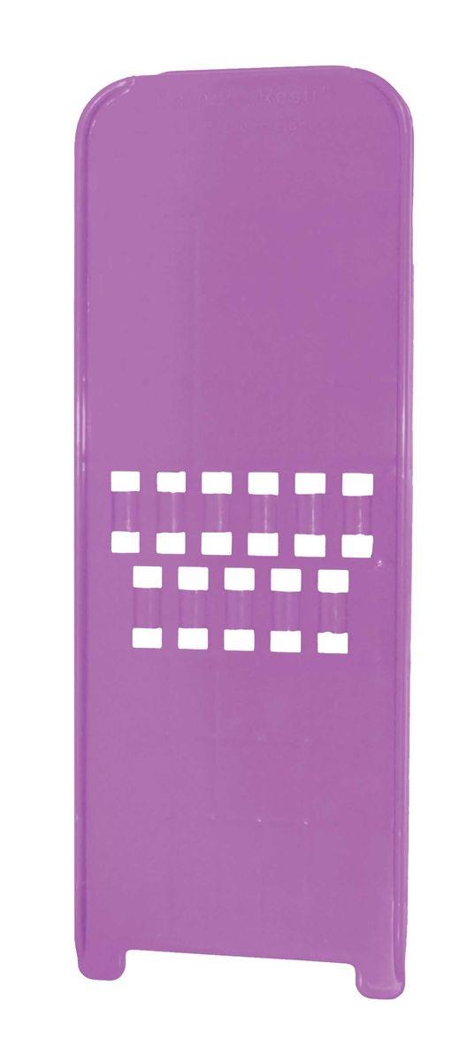 Терка-овощерезка Borner, цвет: фиолетовый, 10 см х 26,5 см х 1,5 см3810341Терка-овощерезка Borner будет отличным помощником на вашей кухне, особенно для любителей пиццы, картофельно-сырной запеканки и селедки под шубой. Терка-овощерезка имеет ударопрочный пластмассовый корпус с острыми двухсторонними ножами.Виды нарезки:длинная, плоская, тонкая, но широкая стружка-лапша - для нарезки сыра и любых овощей;крупная стружка для любых овощей нарезаемых поперек длины (например, морковь, огурец).Приятная деталь - у овощерезки нет металлических ножей, а вареные овощи не прилипают к пластмассовой терке. Размер терки-овощерезки: 10 см х 26,5 см х 1,5 см.