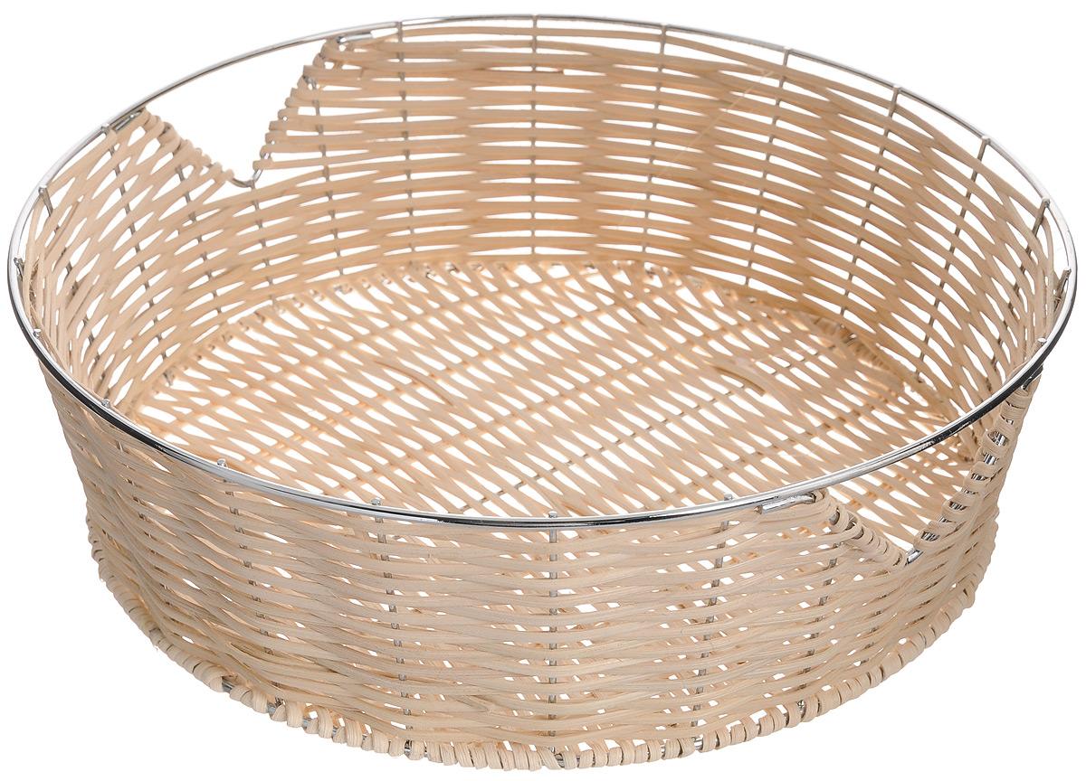 Корзина для фруктов Mayer & Boch, диаметр 30 см20936Элегантная корзина Mayer & Boch круглой формы, изготовленная из ротанга и высококачественного металла, идеально подойдет для красивой сервировки фруктов, хлеба и других угощений. Корзина Mayer & Boch прекрасно оформит стол и станет чудесным дополнением к вашей кухонной коллекции.