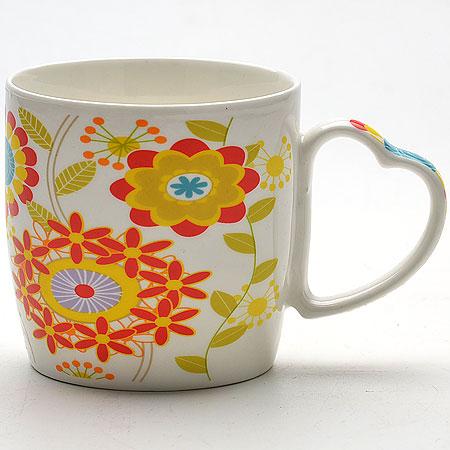 21549 Кружка 300мл Цветы LR в под/упак.((х48)21549Кружка с рисунком Цветы в под. упаковке материал:керамика объем 300 мл