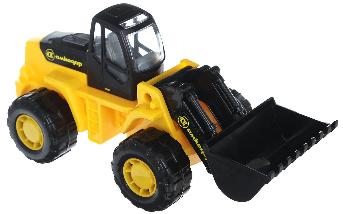 Полесье Трактор-погрузчик Умелец цвет желтый машина детская полесье полесье набор автомобиль трейлер трактор погрузчик