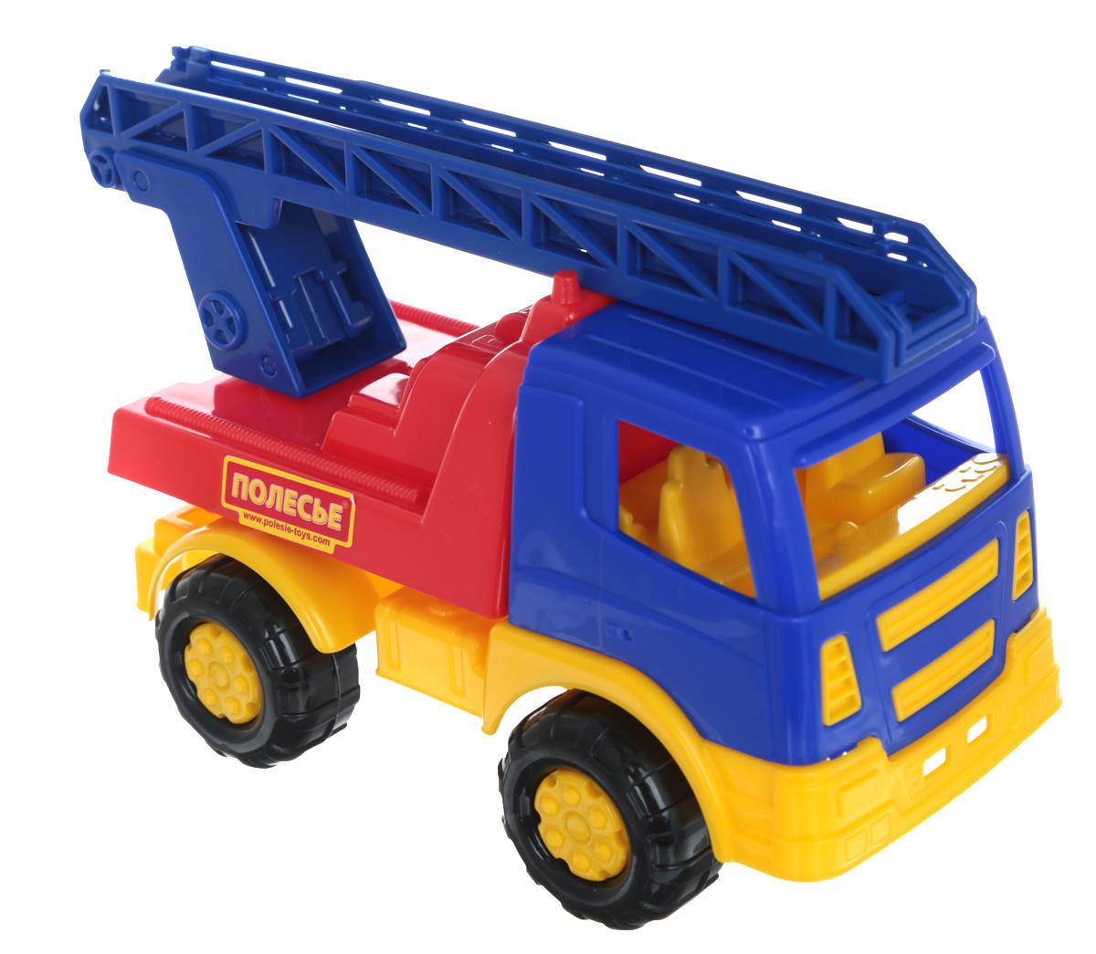Полесье Пожарная спецмашина Салют цвет синий красный желтый полесье гоночный автомобиль торнадо цвет желтый