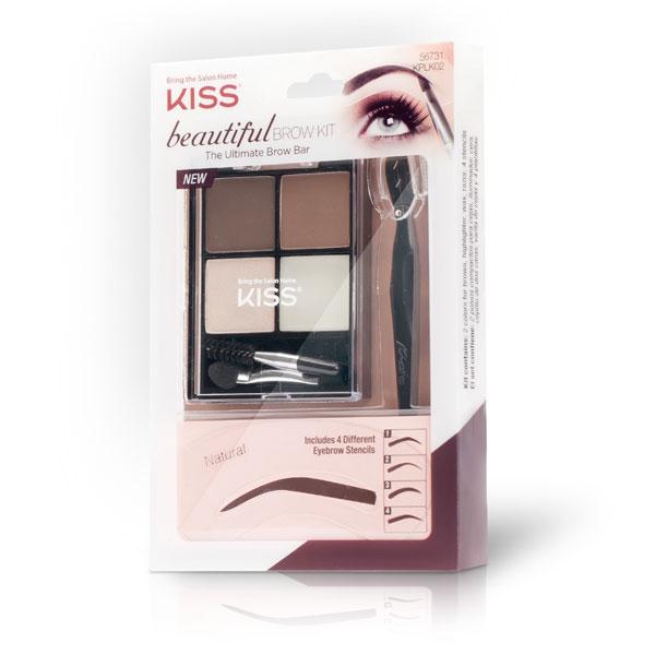 Kiss Набор для моделирования бровей Beautiful Brow Kit KPLK02C01-445Набор для моделирования бровей Beautiful Kiss поможет легко и быстро оформить брови.Состав набора: Трафареты 4-х разных форм – для придания бровям любой формы. Триммер – для быстрого удаления волосков. Тени в 2-х оттенках – для придания бровям насыщенного цвета. Воск для бровей – для фиксации макияжа. Хайлайтер – для подсвечивания. Аппликаторы – для нанесения макияж.Как создать идеальные брови: пошаговая инструкция. Статья OZON Гид