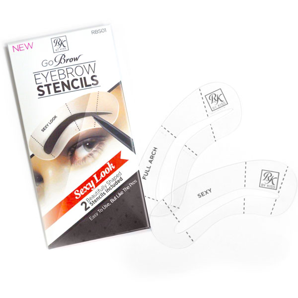Kiss Набор трафаретов для бровей Sexy Look Eyebrow Stencils Go Brow RBS01 тушь для бровей kiss go brow eyebrow mascara 6 мл black dark brown