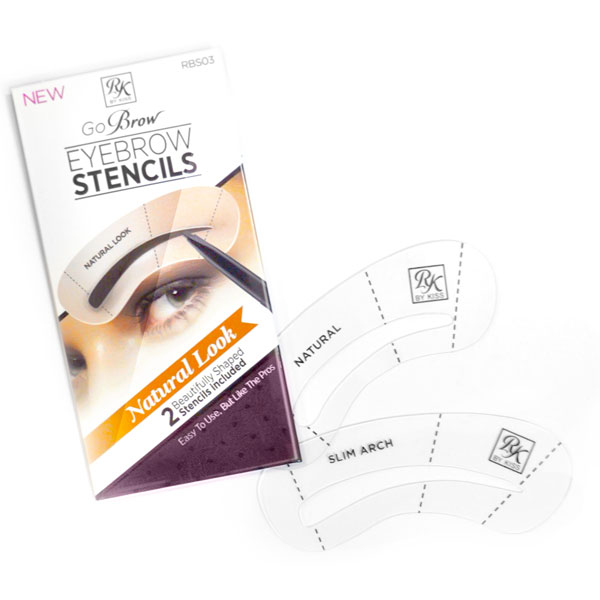 Kiss Набор трафаретов для бровей Natural Look Eyebrow Stencils Go Brow RBS03 тушь для бровей kiss go brow eyebrow mascara 6 мл black dark brown