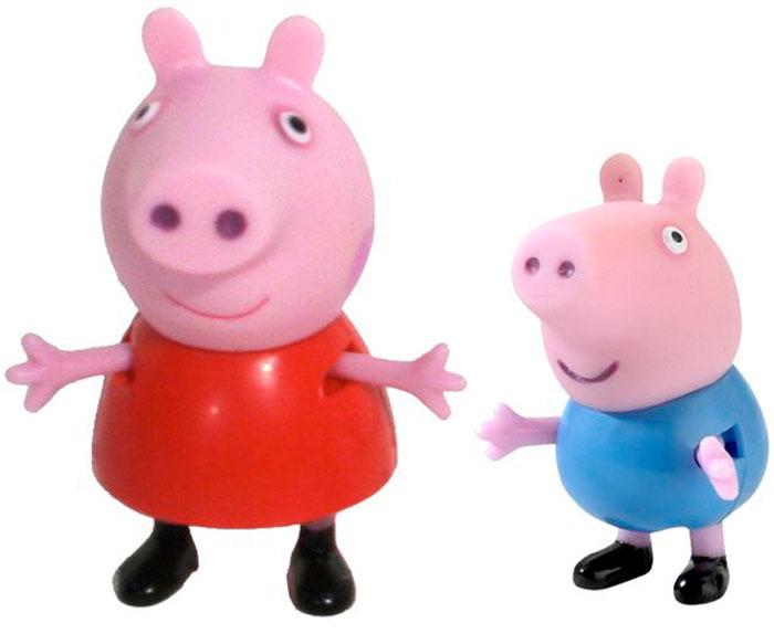 Peppa Pig Игровой набор Пеппа и Джордж peppa pig игровой набор дом пеппы с садом 31611