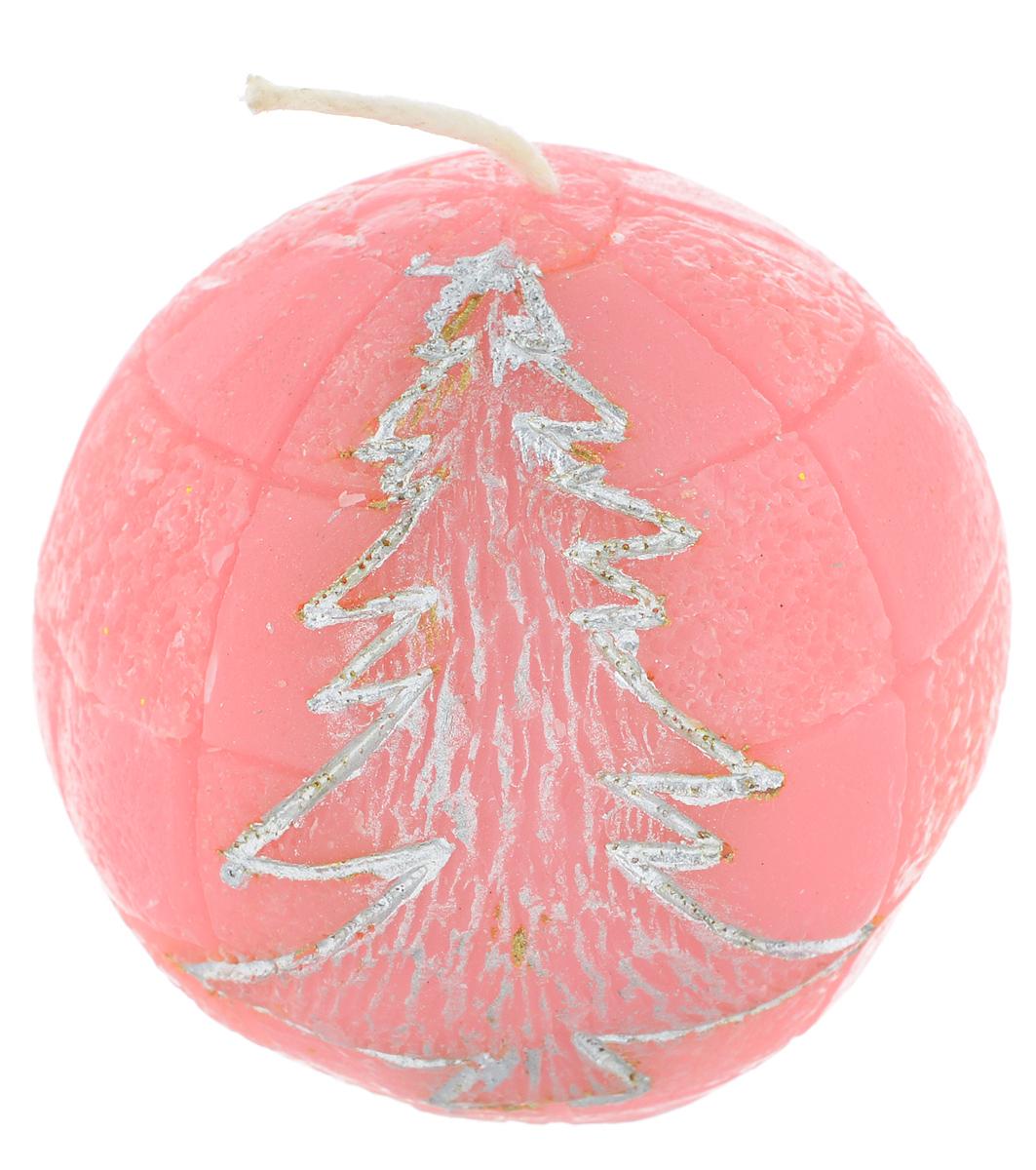Свеча декоративная Lunten Ranta Подарок, цвет: розовый, диаметр 5 см новогоднее украшение баннер lunten ranta с новым годом длина 100 см