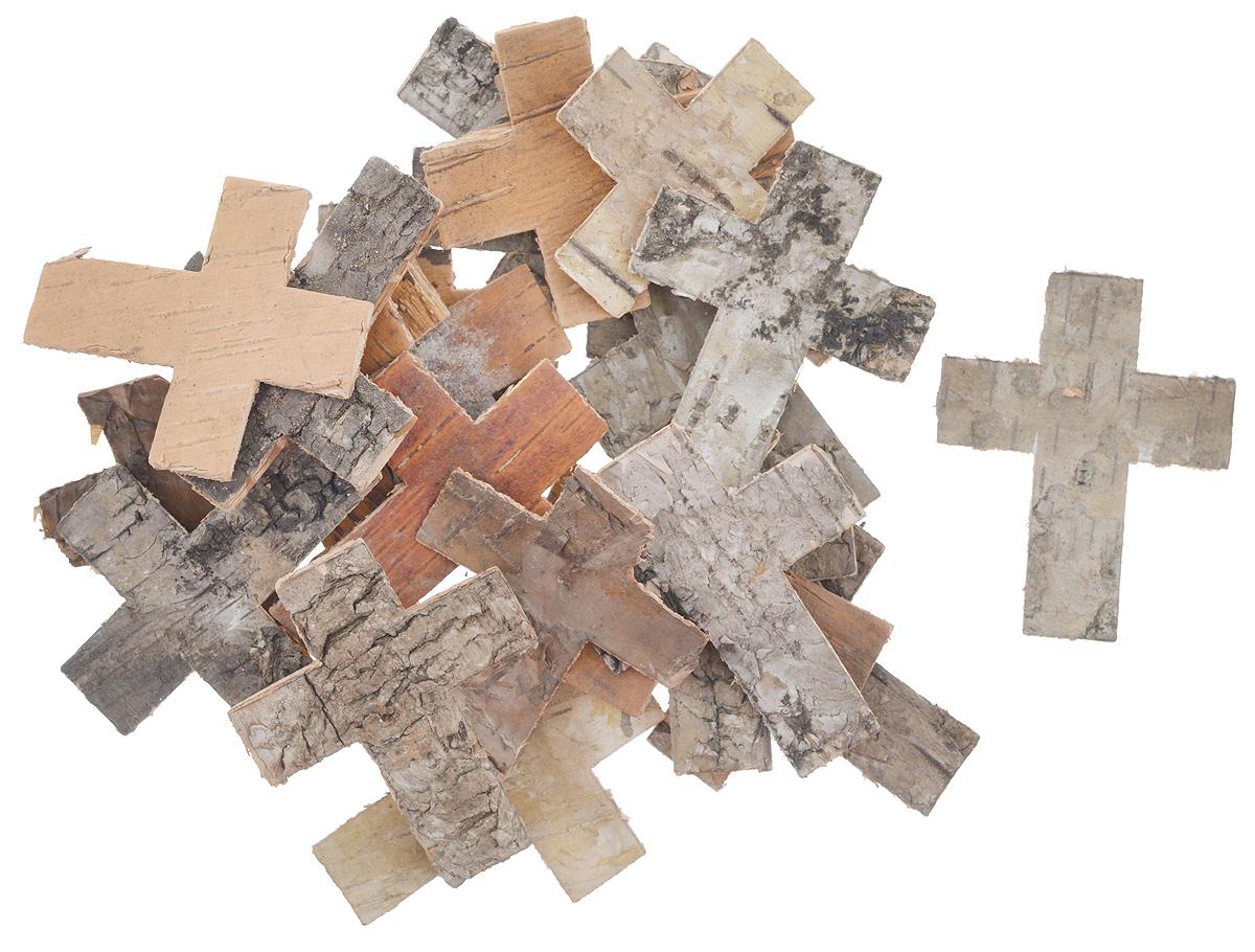 Декоративный элемент Dongjiang Art Крест, цвет: натуральное дерево, 25 шт7709020_нат/деревоДекоративный элемент Dongjiang Art Крест, изготовленный из натуральной коры дерева, предназначен дляукрашения цветочных композиций. Изделие можно также использовать в технике скрапбукинг и многом другом.Флористика - вид декоративно-прикладного искусства, который использует живые, засушенные иликонсервированные природные материалы для создания флористических работ. Это целый мир, в котором естьместо и строгому математическому расчету, и вдохновению.Размер одного элемента: 5 см х 6 см.
