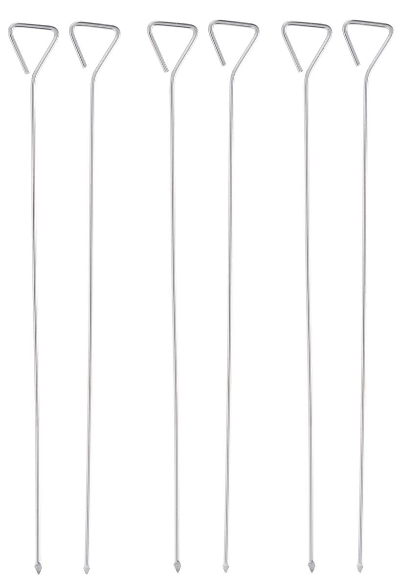 Набор для шашлыка Iris, длина 30 см, 6 шт2126-6IНабор для шашлыка Iris состоит из 6 шпажек. Они выполнены изнержавеющей стали. Шпажка являет собой длинный металлический прут, один конец которого заострен, второй – закруглен. Набор предназначен для приготовления пищи из мяса, рыбы, птицы, овощей на открытом воздухе.Можно мыть в посудомоечной машине или вручную с использованием моющих средств, не содержащих абразивныхматериалов.Длина шампура: 30 см. Комплектность: 6 шт.