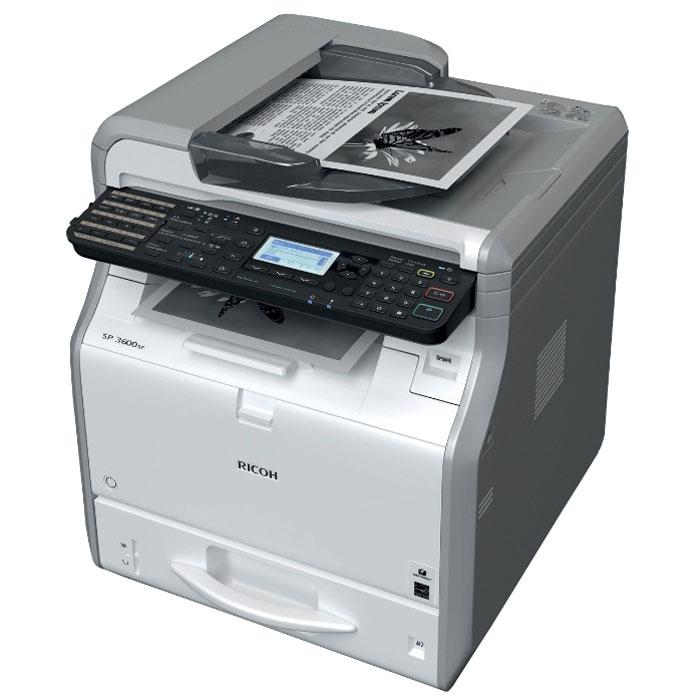 Ricoh SP 3600SF МФУ407308МФУ Ricoh SP 3600SF идеально в том, что касается экономичной черно-белой печати, копирования, сканирования и отправки факсов. Привлекательная цена и низкая совокупная стоимость владения делает эти модели разумным долгосрочным капиталовложением.Новый контроллер Ricoh, обеспечивающий непревзойденную скорость работы, повысит производительность вашего офиса. Компактный размер позволяет разместить МФУ прямо на рабочем столе, а фронтальный доступ к устройствам облегчает их обслуживание. Ricoh SP 3600SF поможет вам повысить продуктивность работы без ущерба для окружающей среды.Время прогрева: 14 секундОперативная память: 512 МБСканирование лазерным лучом и электрографическая печатьМасштабирование: От 25% до 400% с шагом 1%Среды Windows: Windows XP, Windows Vista, Windows 7, Windows 8, Windows 8.1, Windows Server 2003, Windows Server 2003R2, Windows Server 2008, Windows Server 2008R2, Windows Server 2012, Windows Server 2012R2Среды Mac OS: Macintosh OS X Native v10.6 или более поздняя версия