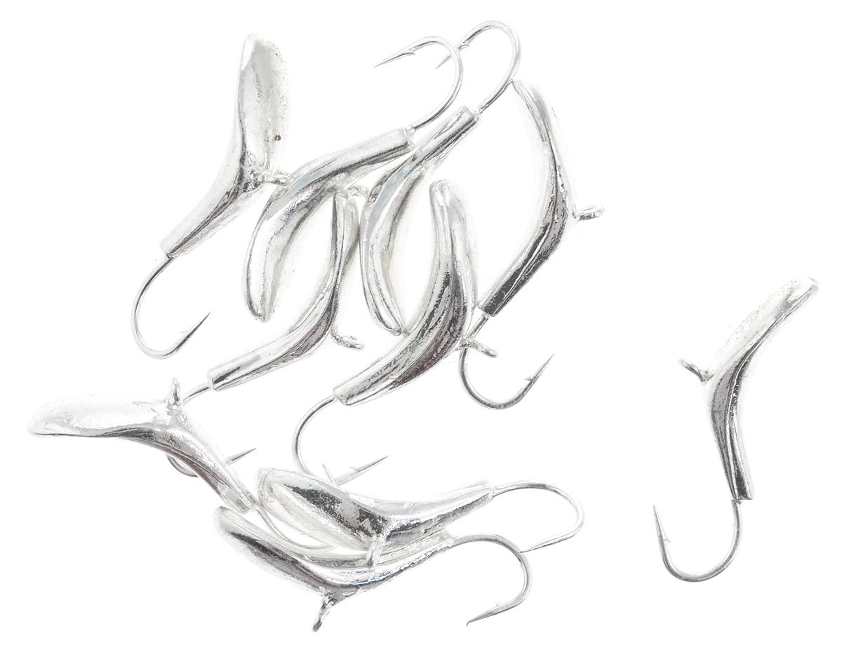 Мормышка вольфрамовая Dixxon-Russia, комар, цвет: серебряный, диаметр 4 мм, 1,1 г, 10 шт