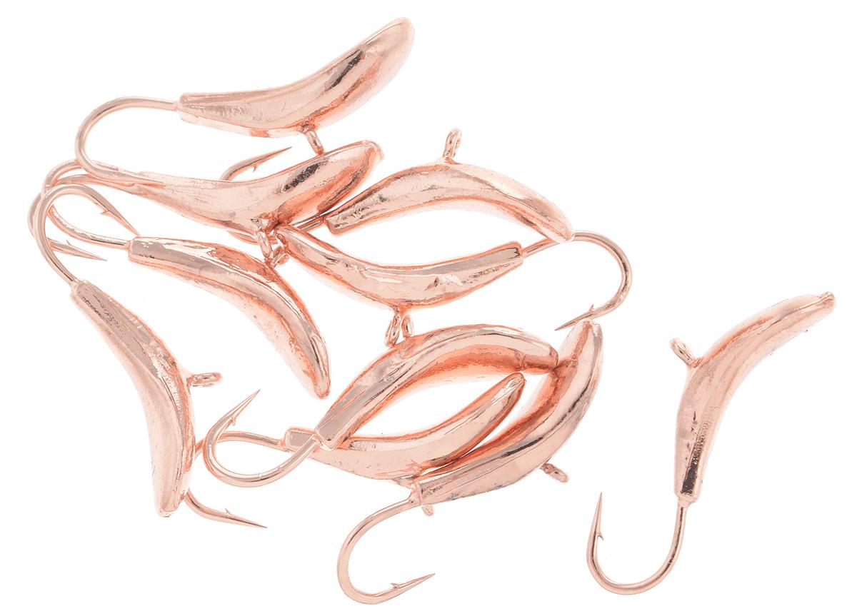 Мормышка вольфрамовая Dixxon-Russia, комар, цвет: медный, диаметр 3 мм, 0,6 г, 10 шт