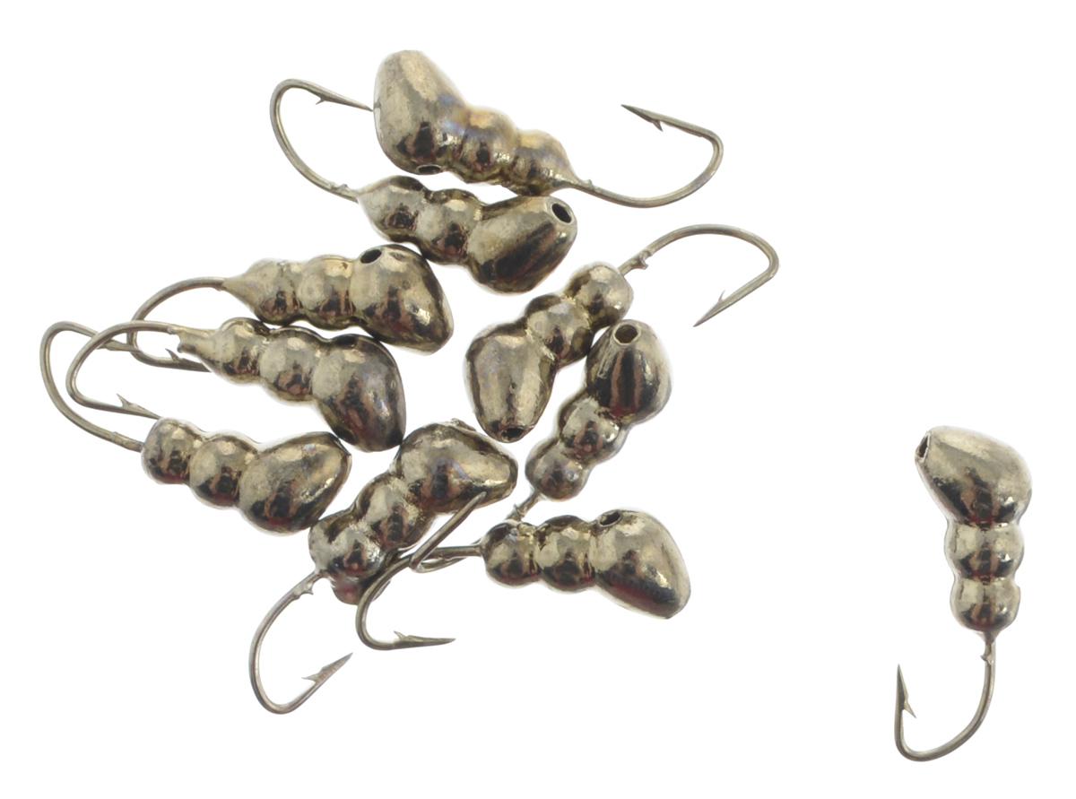 Мормышка вольфрамовая Dixxon-Russia, муравей с отверстием, цвет: черный никель, диаметр 3 мм, 0,41 г, 10 шт