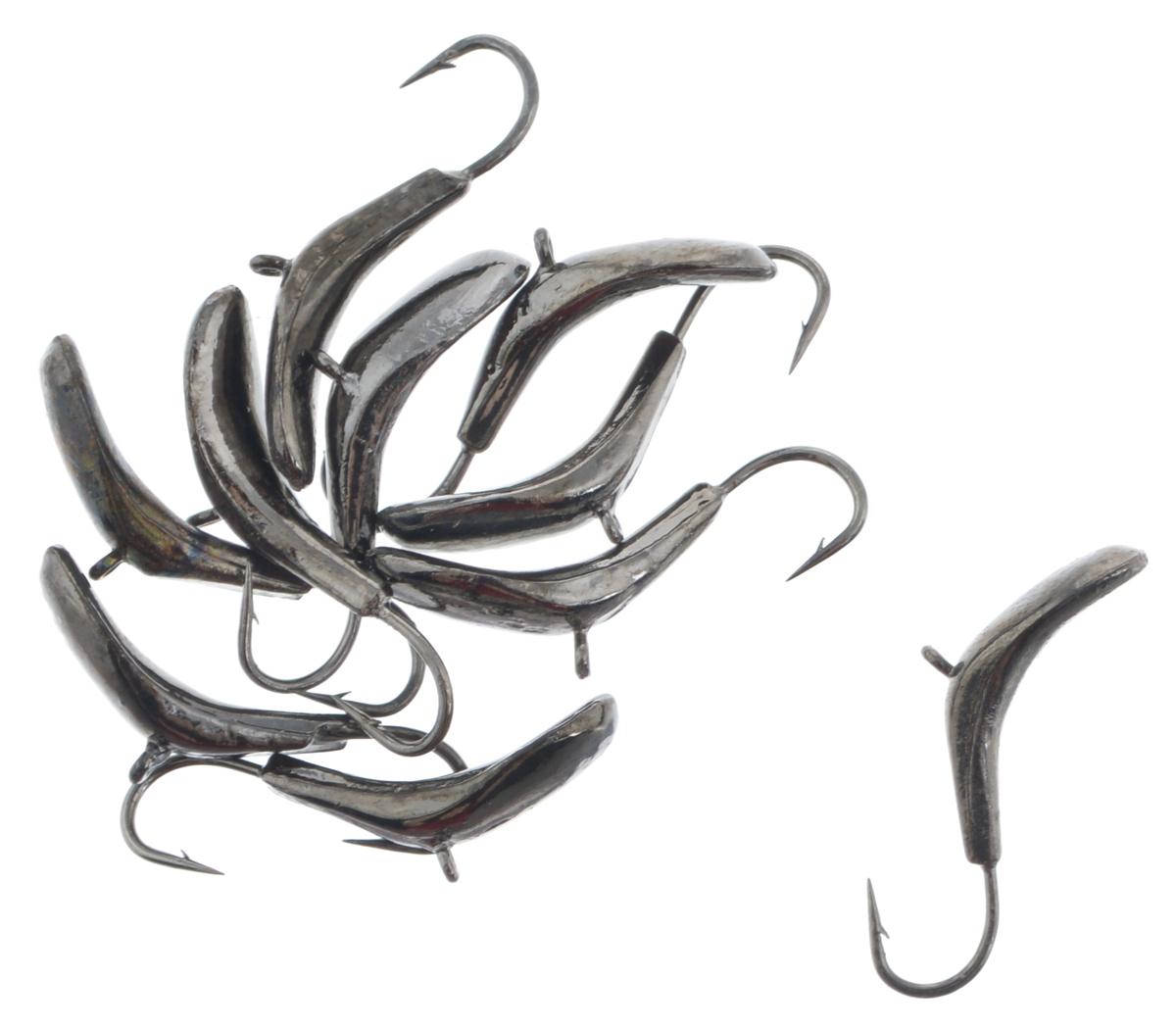 Мормышка вольфрамовая Dixxon-Russia, комар, цвет: черный никель, диаметр 3 мм, 0,6 г, 10 шт
