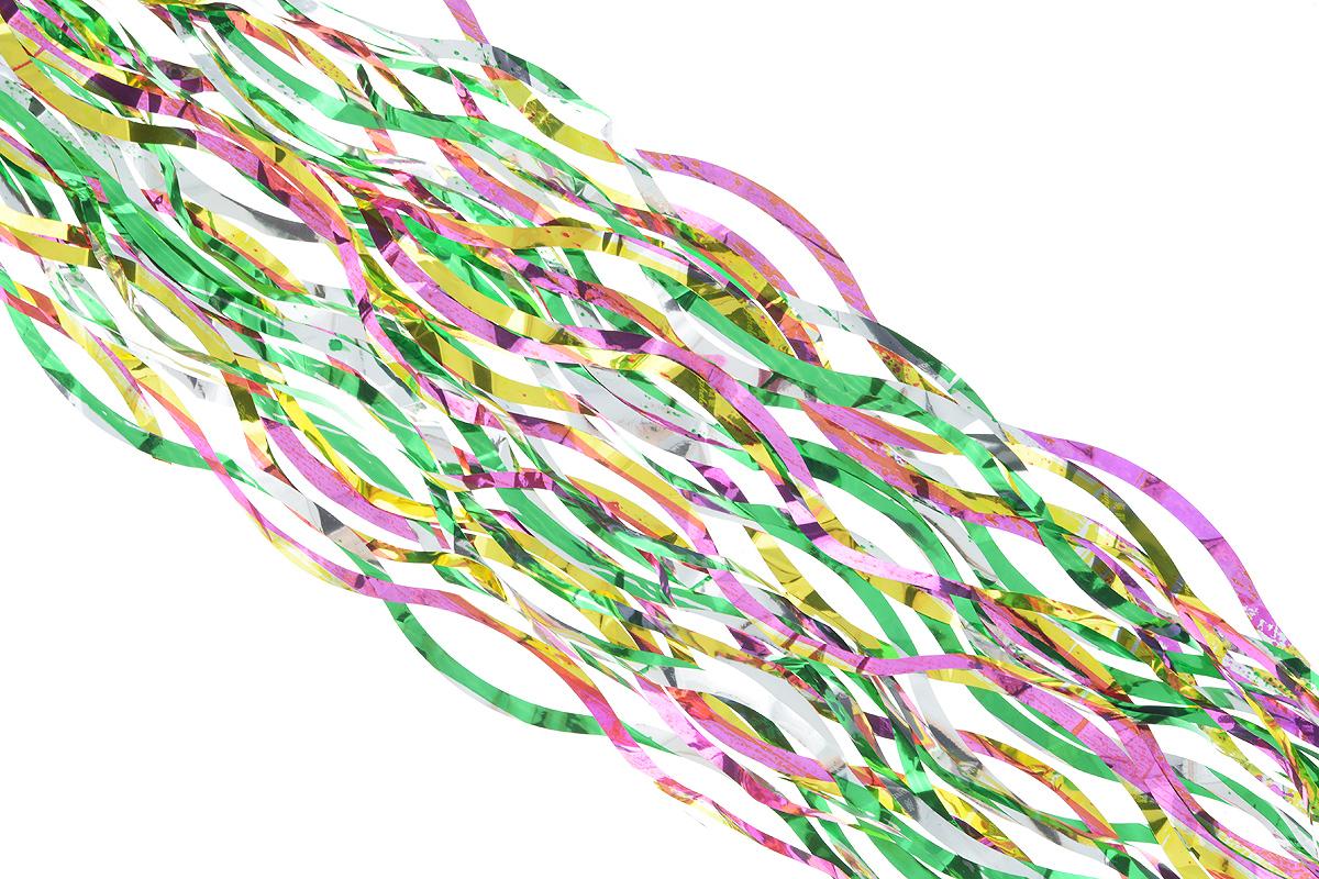 Дождик новогодний Sima-land, цвет: зеленый, желтый, сиреневый, 9 х 150 см. 701545701545_зеленый, желтый, сиреневыйНовогодний дождик Sima-land, изготовленный из разноцветной фольги, поможет вам украсить свой дом к предстоящим праздникам. Новогодняя елка с таким украшением станет еще наряднее.Новогодним дождиком можно украсить все, что угодно - елку, квартиру, дачу, офис - как внутри, так и снаружи. Можно сложить новогодние поздравления, буквы и цифры, дождиком можно украсить и дополнить гирлянды, можно выделить дверные колонны, оплести дверные проемы.Коллекция декоративных украшений из серии Зимнее волшебство принесет в ваш дом ни с чем несравнимое ощущение праздника! Создайте в своем доме атмосферу тепла, веселья и радости, украшая его всей семьей. Ширина: 9 см.