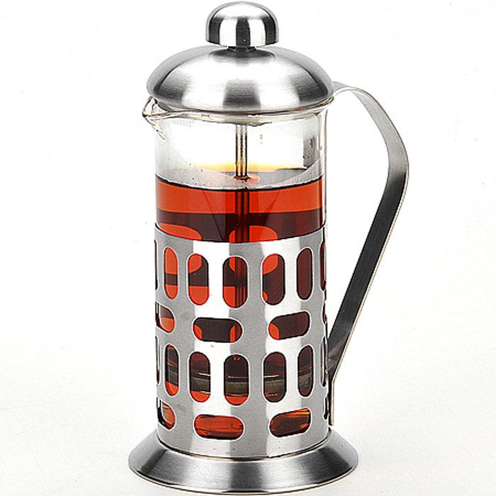 24929 Заварник Френч-пресс 350мл MB (х24)24929Заварочный чайник френч-пресс (350 мл)Материал: пиракса стекло, нержавеющая сталь, полипропиленРазмер упаковки: 11,9 х 9 х 19,7 смОбъем: 350 млВес: 324 гФренч-пресс Mayer&Boch это термостойкое стекло в сочетании с нержавеющей сталью. Удобная ненагревающаяся ручка выполнена из нержавеющей стали. Фильтр-поршень из нержавеющей стали выполнен по технологии press-up для обеспечения равномерной циркуляции воды. Имея под рукой френс-пресс, у вас всегда получится свежий и ароматный напиток.