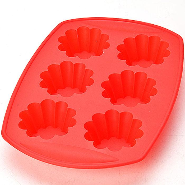 22077 Форма силиконовая 29х20х3,8см МВ (х48)22077Форма для выпечки кексовМатериал: силиконРазмер: 29х20х3,8 смФорма для выпечки и заморозки изготовлена из термостойкого силикона. Состоит из шести ячеек, которые идеально подойдут для приготовления мини-кексов и тарталеток. Форма устойчива к температурам от -40 °С до +240 °С. В такой форме выпечка не пригорает, не пристает и легко вынимается из нее. Нужно лишь залить в формочку тесто и поставить в духовку, и через некоторое время Вы сможете порадовать своих близких оригинальной выпечкой.