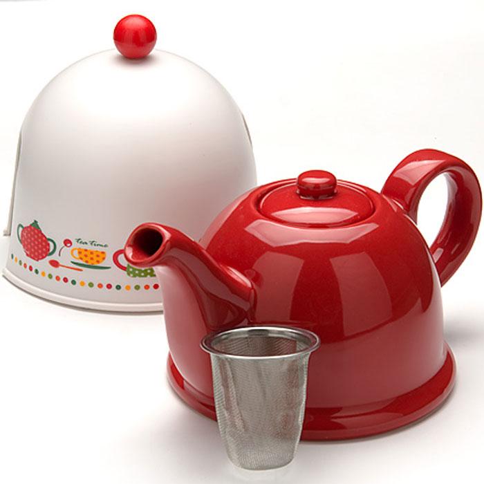 Чайник заварочный Mayer & Boch, с термоколпаком, с фильтром, 800 мл. 2431624316Заварочный чайник Mayer & Boch, выполненный из глазурованной керамики, позволит вам заварить свежий, ароматный чай. Чайник оснащен сетчатым фильтром из нержавеющей стали. Он задерживает чаинки и предотвращает их попадание в чашку. Сверху на чайник одевается термоколпак из пластика. Внутренняя поверхность термоколпака отделана теплосберегающей тканью. Он поможет дольше удерживать тепло, а значит, вода в чайнике дольше будет оставаться горячей и пригодной для заваривания чая. Заварочный чайник Mayer & Boch эффектно украсит стол к чаепитию, а также послужит хорошим подарком для ваших друзей и близких.Диаметр чайника (по верхнему краю): 6 см.Диаметр основания чайника: 14 см.Диаметр фильтра (по верхнему краю): 5,5 см.Высота фильтра: 6 см.Высота чайника (без учета термоколпака и крышки): 9,5 см.Размер термоколпака: 15 х 14 х 13,5 см.