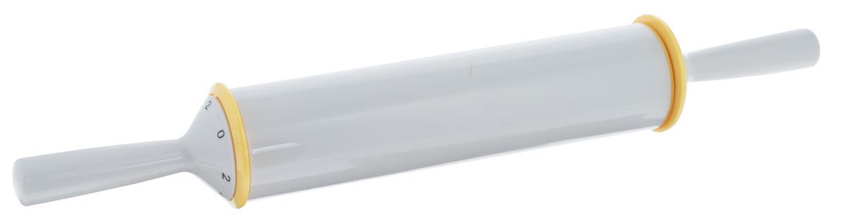 Скалка с регулируемой толщиной теста Tescoma Delicia, длина 50 см630182Скалка с регулируемой толщиной теста, изготовлена из высокопрочного пластика.Можно мыть под проточной водой. Скалка с регулируемой толщиной теста, изготовлена из высокопрочного пластика.Не рекомендуется мыть в посудомоечной машине.Использование:Ручку установите на выбранное значение 2, 4, 6 или 8 (соответствует толщине теста в мм) и сохраняйте ее в нужном положении в течение раскатывания, постепенно раскатайте тесто на выбранную толщину.Максимальная ширина теста, раскатанного на необходимую толщину, соответствует ширине скалки - 26 см.При установке на ручке цифры 0, скалка работает как классическая скалка для теста.