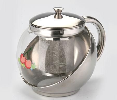 Чайник заварочный Mayer & Boch Apple, с фильтром, 900 мл2026Изящный и современный стиль чайника Mayer & Boch Apple прекрасно подчеркнет декор любой кухни. Стеклянный корпус и съемный фильтр из нержавеющей стали позволяют быстро и легко очистить чайник. Может быть использован для подачи как горячих, так и холодных напитков. Простой и удобный чайник Mayer & Boch Apple послужит великолепным подарком для любителей чая.Диаметр чайника (по верхнему краю): 8,5 см.Высота чайника (без учета крышки): 12 см.Высота фильтра: 7,5 см.