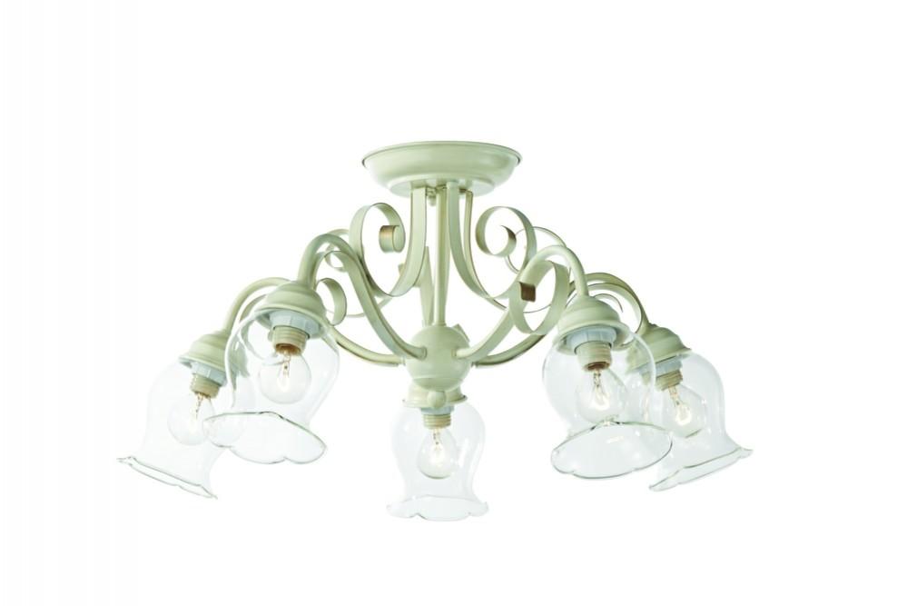 Люстра потолочная  ST-Luce , цвет: слоновая кость, золотой, цоколь Е14, 60Вт - Светильники