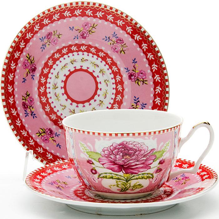 24583 Чайная пара 2пр 250мл ЦВЕТОК LR (х24)24583Чайная пара (1 чашка+1 блюдце) Материал: керамикаРисунок: розы Объем чашки: 250 мл Вес: 280 г Размер коробки: 15,5 х 15,5 х 7 смЭтот чайный набор, выполненный из керамики, состоит из 1 чашка и 1 блюдце. Предметы набора офрмлены ярким изображением цветов.Изящный дизайн и красочность оформления придутся по вкусу и ценителям классики, и тем, кто предпочитает утонченность и изысканность. Чайная пара- идеальный и необходимый подарок для вашего дома и для ваших друзей в праздники, юбилеи и торжества! Он также станет отличным корпоративным подарком и украшением любой кухни. Чайная пара упакована в подарочную коробку из плотного цветного картона. Внутренняя часть коробки задрапирована белым атласом.