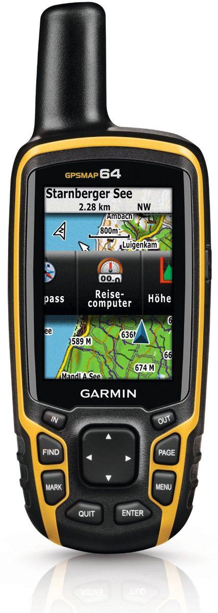 Навигационный приемник Garmin GPSMAP 64 Rus (010-01199-01)010-01199-01Навигационный приемник Garmin GPSMAP 64 поставляется с встроенной базовой картой мира с затененным рельефом и предзагруженными картами Дороги России ТОПО. Таким образом, у вас под рукой будут все необходимые инструменты для пешего туризма и альпинизма. Карты включают в себя национальные, государственные или местные парки и леса, контуры рельефа, информацию о высоте, тропы, реки, озера и различные объекты.С помощью антенны quad helix и высокочувствительного приемника GPS и GLONASS прибор GPSMAP 64 быстро и точно рассчитывает ваше местоположение, не теряя сигнал даже под плотными кронами деревьев и в глубоких оврагах. Преимущество очевидно – вы можете полностью полагаться на GPSMAP 64 и в глухом лесу, и около высоких зданий и деревьев.Используя внутреннюю память 4 ГБ и слот для дополнительных карт памяти microSD, вы можете легко добавить другие подробные карты - топографические, морские и автомобильные. Яхтсмены оценят карты BlueChart G2, а автомобили стал рекомендуем остановиться на дорожных картах City Navigator NT. Кроме того- модель 64 совместима с Garmin Custom Maps - картографическим форматом, который позволяет бесплатно преобразовывать бумажные и электронные карты в загружаемые карты для устройства.Garmin GPSMAP 64 включает все необходимое для геокэшинга - 250000 предзагруженных тайников с подсказками и описаниями с сайта Geocaching.com и батарею с периодом работы 16 часов. Отказавшись от бумажных распечаток, вы не только вносите свой вклад в охрану окружающей среды, но также повышаете эффективность геокэшинга. Устройство позволяет хранить и отображать основную информацию, включая местоположение, рельеф, уровень сложности, подсказки и описания. Вам не придется вводить координаты вручную и носить с собой распечатки.Информация о Солнце/ЛунеРасчет площадиGarmin ConnectПросмотр изображений