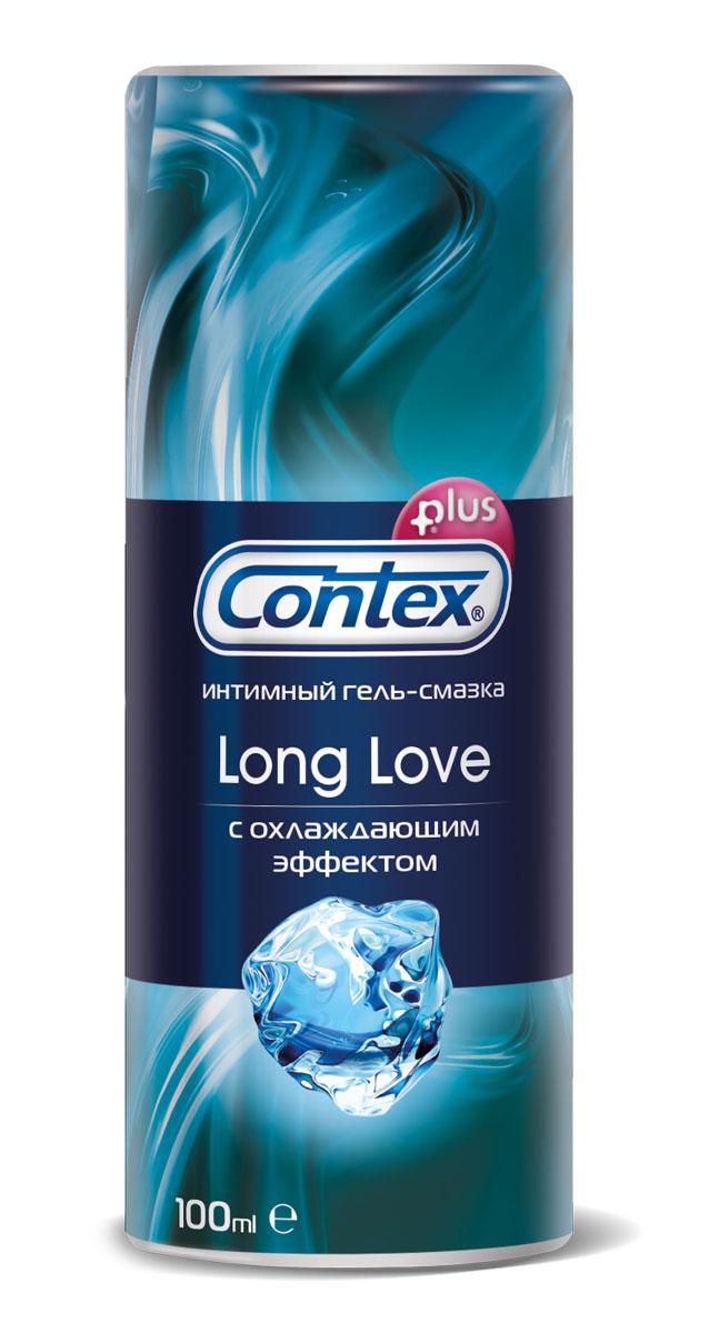 Contex Long Love Интимный гель-смазка с охлаждающим эффектом, продлевающий удовольствие, 100 мл erotic fantasy teadrop s кольцо с металлическим языком