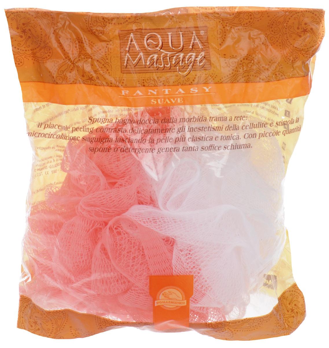Мочалка Arix, с массажным эффектом, цвет: розовый, белый, 15 см х 12 см х 17 см мочалка arix с карманом для мыла полиуретан