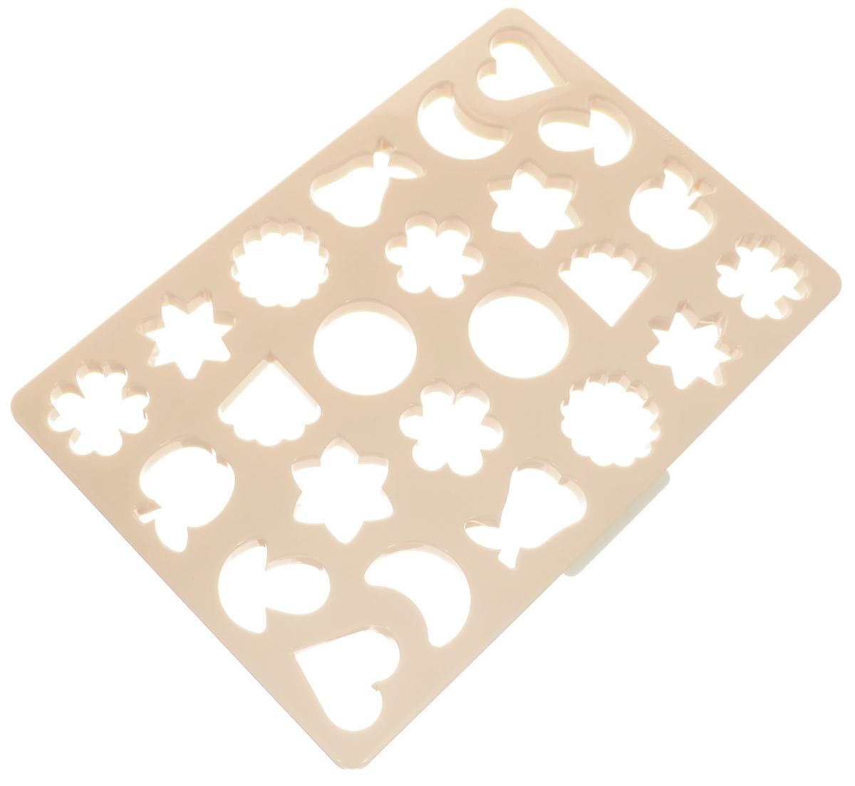 Лист-форма для традиционного печенья Tescoma Delicia, 23 х 33 см630882Лист-форма для выпечки традиционного печенья в виде звездочек, грибочков, сердечек, яблок для одновременного формирования 24 печеней. Размер формы: 23 см х 33 см. Можно мыть в посудомоечной машине.