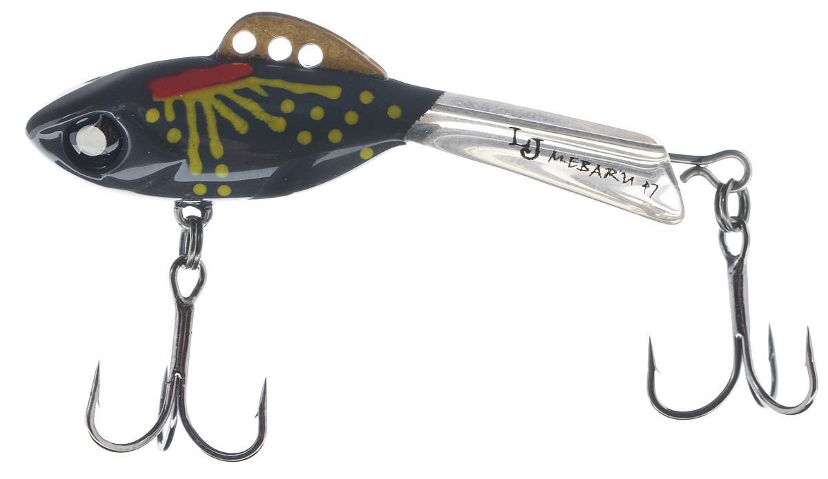 Балансир Lucky John Mebaru, цвет: темно-серый, красный, желтый, 4,7 см, 8 г