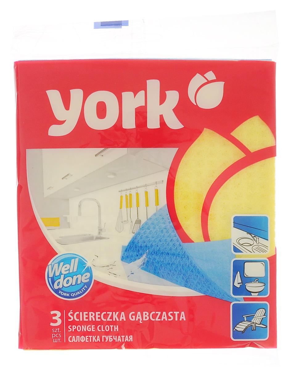 Салфетка губчатая York, 17,5 см х 15,5 см, 3 шт2401Салфетка York, изготовленная из целлюлозы, может поглощать количество пыли и влаги, в 13 раз превышающее ее собственный вес. Многочисленные поры между микроволокнами, благодаря капиллярному эффекту, мгновенно впитывают воду, подобно губке. Благодаря мелким порам микроволокна, любые капельки, остающиеся на чистящей поверхности очень быстро испаряются и остается чистая дорожка без полос и разводов. Размер салфетки: 17,5 см х 15,5 см.