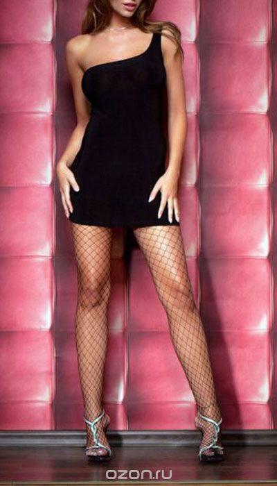 Платье гоу-гоу Erolanta Elite Collection, цвет: черный. 9607. Размер S/M (42/44)9607Обтягивающее платье Erolanta Elite Collection, выполненное из высококачественного материала, дерзкое и сексуальное. Модель с открытым плечом из полупрозрачной ткани обеспечивает идеальную посадку по фигуре.