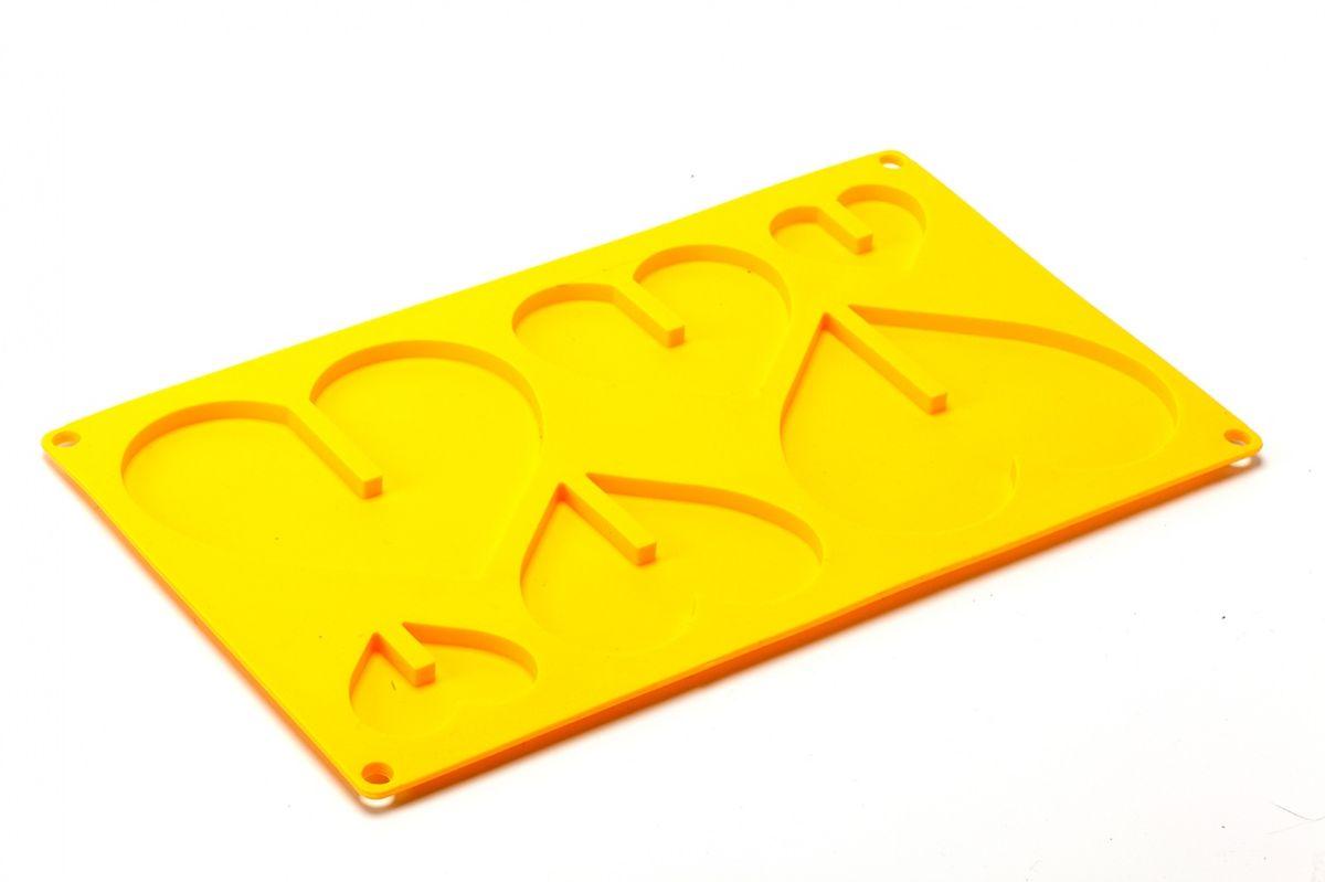Форма силиконовая 3D Bradex Сердце, цвет: желтый, 6 ячеекTK 0159Форма 3D Bradex Сердце изготовлена из высококачественного силикона и предназначена для одновременного приготовления трех объемных сердец различного размера. На листе расположено 6 ячеек в виде сердечек 3 разных размеров.Потрясающие сердечки из шоколада, печенья, льда или замороженного йогурта станут элегантным и трогательным дополнением к семейному завтраку, праздничному обеду, романтическому ужину или коктейльной вечеринке.Все это разнообразие сладких чудес доступно благодаря одной единственной форме силиконовой 3D Сердце! Объемные вкусные сердечки будут сладким сюрпризом для ваших любимых. А вашим деткам особенно по вкусу придутся карамельные сердечки из жженого сахара с добавлением сока или морса. Подходит для замораживания льда и йогурта, а также для выпекания в духовке при температуре до 230°С. Легко мыть и хранить. Допускается мытье в посудомоечной машине. Общий размер формы: 29 см х 17 см х 0,7 см. Размер большой ячейки: 12 см х 10 см. Размер средней ячейки: 8,5 см х 7 см. Размер маленькой ячейки: 5 см х 4 см. Глубина ячейки: 0,5 см.