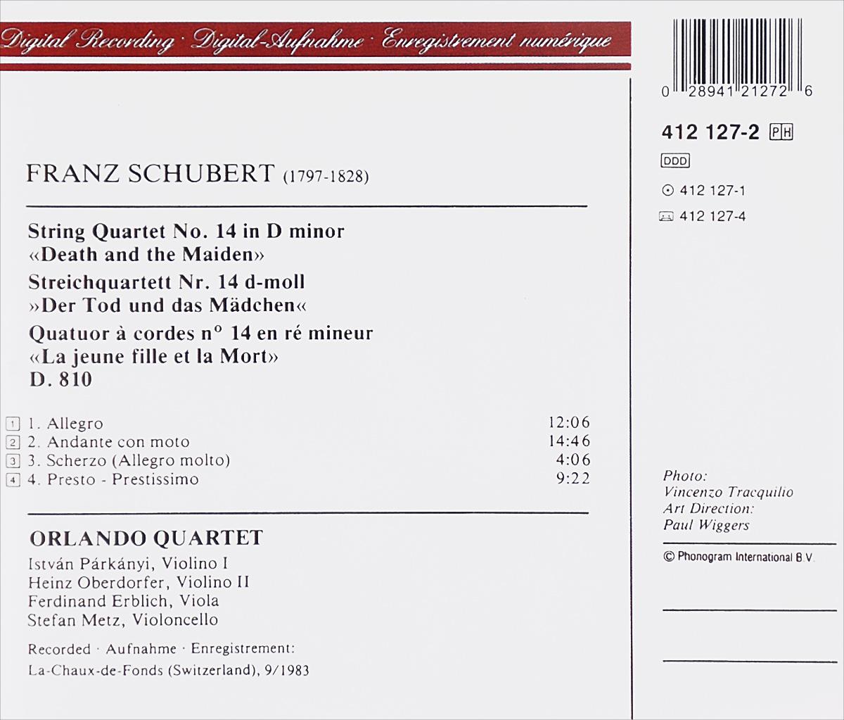 Orlando Quartet.  Schubert.  String Quartet