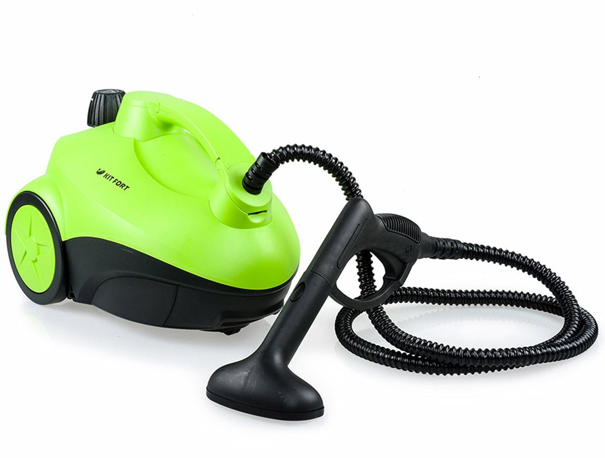 Kitfort KT-909 пароочистительKT-909Пароочиститель Kitfort КТ-909 - многофункциональный аппарат, способный заменить моющий пылесос, дезинфектор, стеклоочиститель, отпариватель для тканей. Используя силу горячего пара, пароочиститель великолепно очищает любые поверхности и обеспечивает деликатную глажку вещей. Прибор очень удобен в использовании, и работа с ним не требует от пользователя каких-то особых навыков и умений.Устройство безопасно для здоровья человека и не приносит вреда окружающей среде. Горячий пар под давлением может удалять грязь, жир и известковые отложения с различных поверхностей, убивать патогенные микроорганизмы, бактерии и домашних клещей, которые могут вызывать аллергические реакции и астму. Сухой пар быстро испаряется, не оставляя следов влаги на поверхности. При очистке поверхностей паром не требуется применения химических чистящих средств, что улучшает экологию дома, и также позволяет сэкономить на покупке чистящих средств. Напряжение: 220 В, 50 ГцРабочее давление пара: 3,5 бараВремя разогрева: 12-15 минут