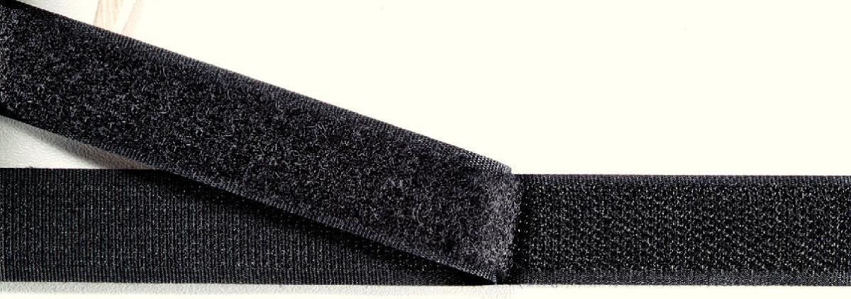 968802 Прилипающая часть контактной ленты (крючок), для пришивания, 20мм,8м.черный цв. Prym693556