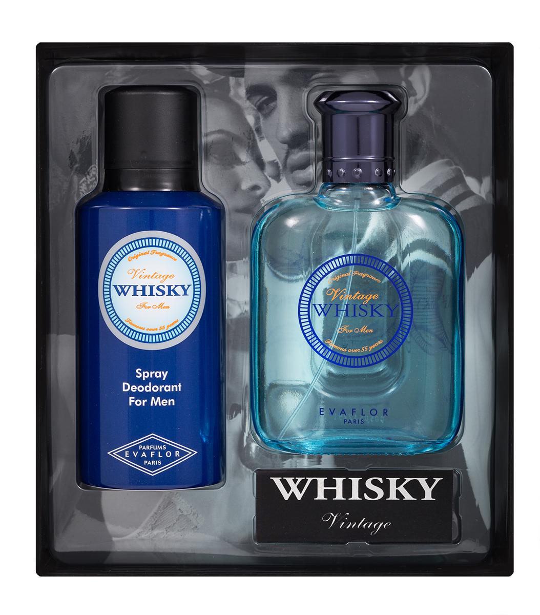 Evaflor Подарочный набор Whisky Vintage мужской: Туалетная вода,100 мл ,дезодорант, 150 мл туалетная вода 30 мл elizabeth arden туалетная вода 30 мл
