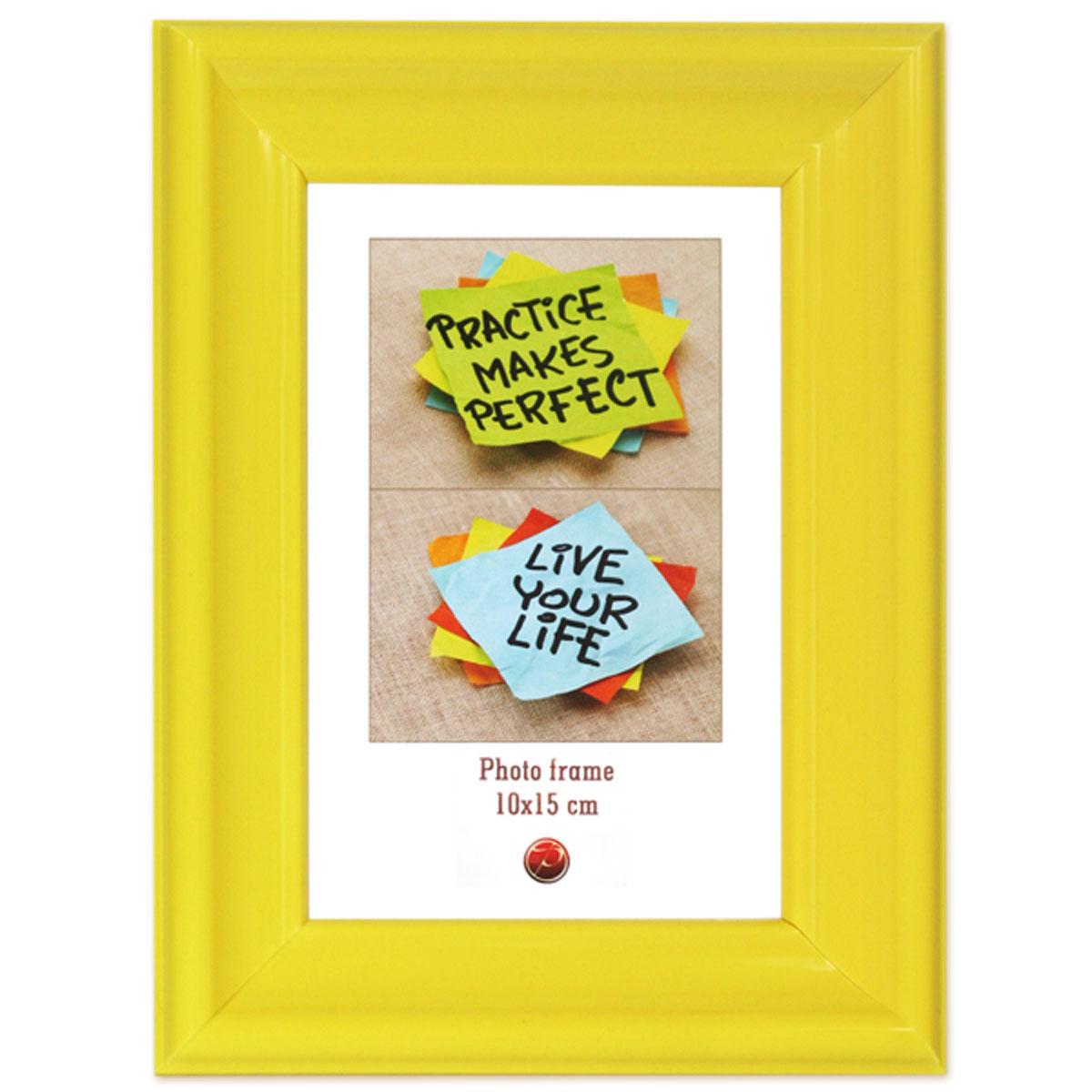 Фоторамка Pioneer Rainbow, цвет: желтый, 10 x 15 см16943 PD06_желтыйФоторамка Pioneer Rainbow выполнена из пластика и стекла, защищающего фотографию. Оборотная сторона рамки оснащена специальной ножкой, благодаря которой ее можно поставить на стол или любое другое место в доме или офисе. Также изделие оснащено специальными отверстиями для подвешивания на стену.Такая фоторамка поможет вам оригинально и стильно дополнить интерьер помещения, а также позволит сохранить память о дорогих вам людях и интересных событиях вашей жизни.