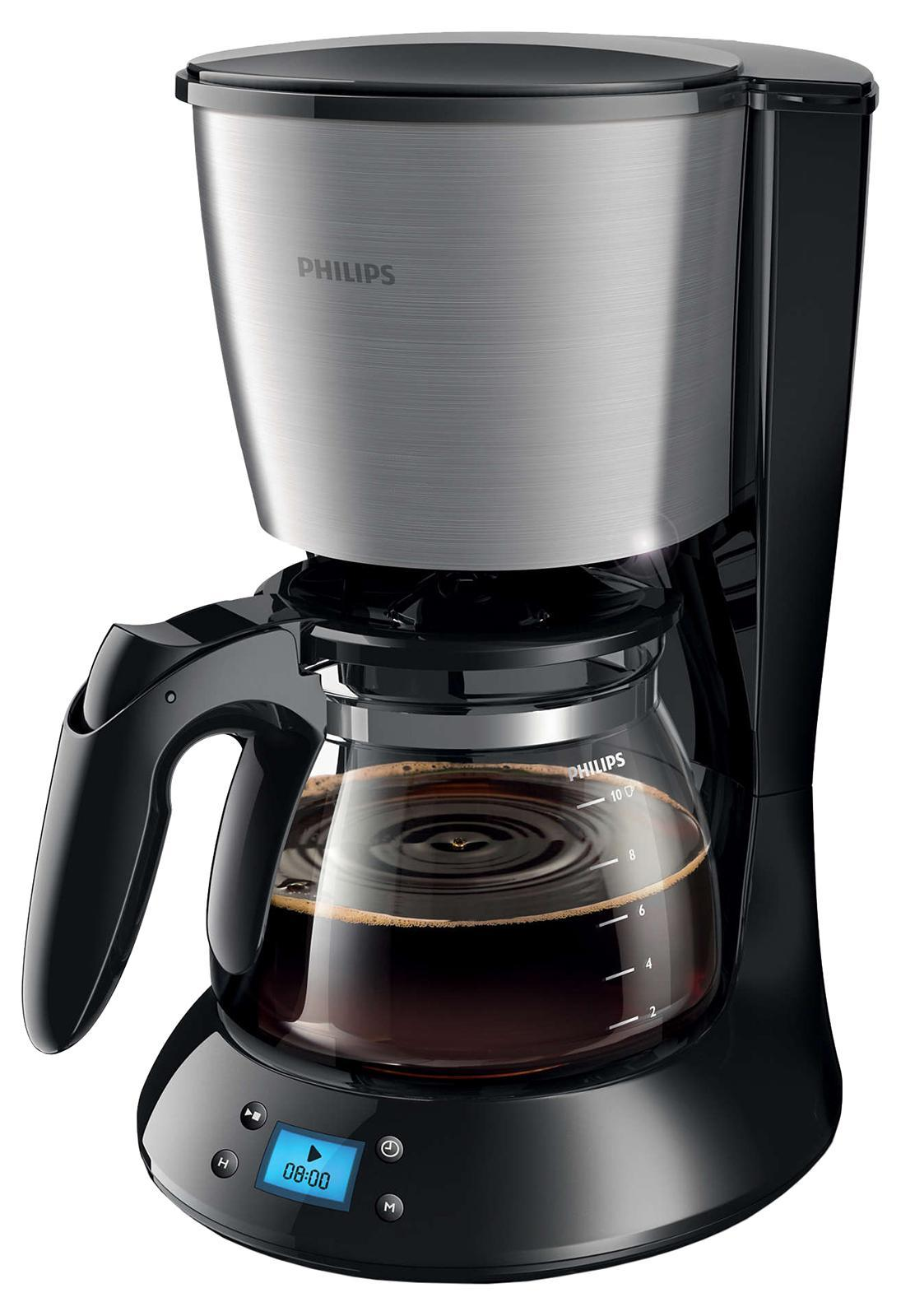 Philips HD7459/20 кофеваркаHD7459/20 Бесподобный аромат свежесваренного кофе по утрам. Кофеварка Philips оснащена встроенным таймером: просто подготовьте прибор, установите время включения и наслаждайтесь ароматом свежесваренного кофе по утрам. Система капля-стоп позволяет прервать приготовление кофе в любой момент. Система капля-стоп позволяет в любой момент прервать приготовление и налить в чашку ароматный кофе. Удобство очистки: съемные части можно мыть в посудомоечной машине. Для удобной очистки все детали этой кофеварки Philips можно мыть в посудомоечной машине. Автоотключение через 30 минут. Забыли выключить кофемашину? Не беспокойтесь! В целях экономии энергии кофемашина выключится автоматически через 30 минут после приготовления напитка. Функция AromaSwirl для насыщенного аромата кофе. Функция AromaSwirl перемешивает кофе для создания насыщенного вкуса и аромата Инновационный индикатор уровня воды. Чтобы вам было удобно следить за объемом воды в резервуаре, компания Philips разработала инновационный индикатор.Как выбрать кофеварку. Статья OZON Гид