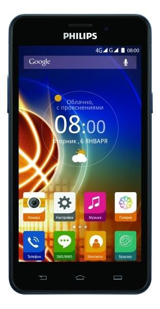Philips Xenium V526, Navy мобильный телефон philips xenium e311 navy blue
