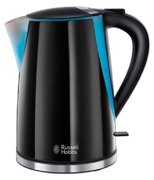 Russell Hobbs 21400-70 электрочайник21400-70Добавьте частицу модного стиля на вашу кухню с чайником Mode. Изящный и стильный, выполненный в прохладном оттенке черного цвета, с блестящими акцентами из нержавеющей стали и тиснением логотипа Russell Hobbs - абсолютная элегантность для любой рабочей поверхности.Объем 1.7 литра и приготовление до 6 чашек идеально подойдет для всей семьи или офисных кухонь. Встроенный отсек для хранения шнура избавит от лишних проводов и удобен для хранения чайника. База с вращением 360° будет удобна для пользования чайником левой или правой рукой.