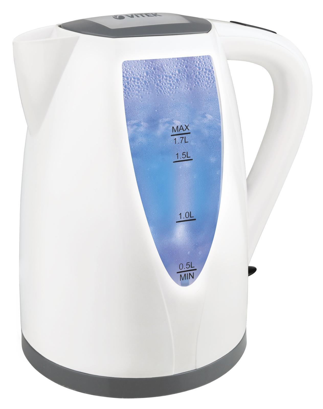 Vitek VT-7014, White электрический чайник holder lcd t2611 b для 22 –47 чёрный