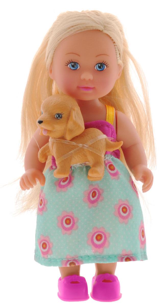 Simba Мини-кукла Еви с собачкой simba кукла evi