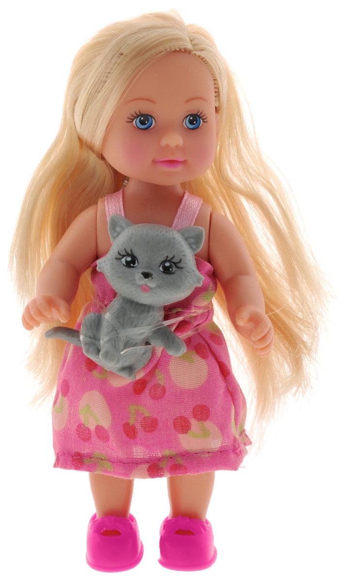 Simba Мини-кукла Еви с кошкой simba кукла evi