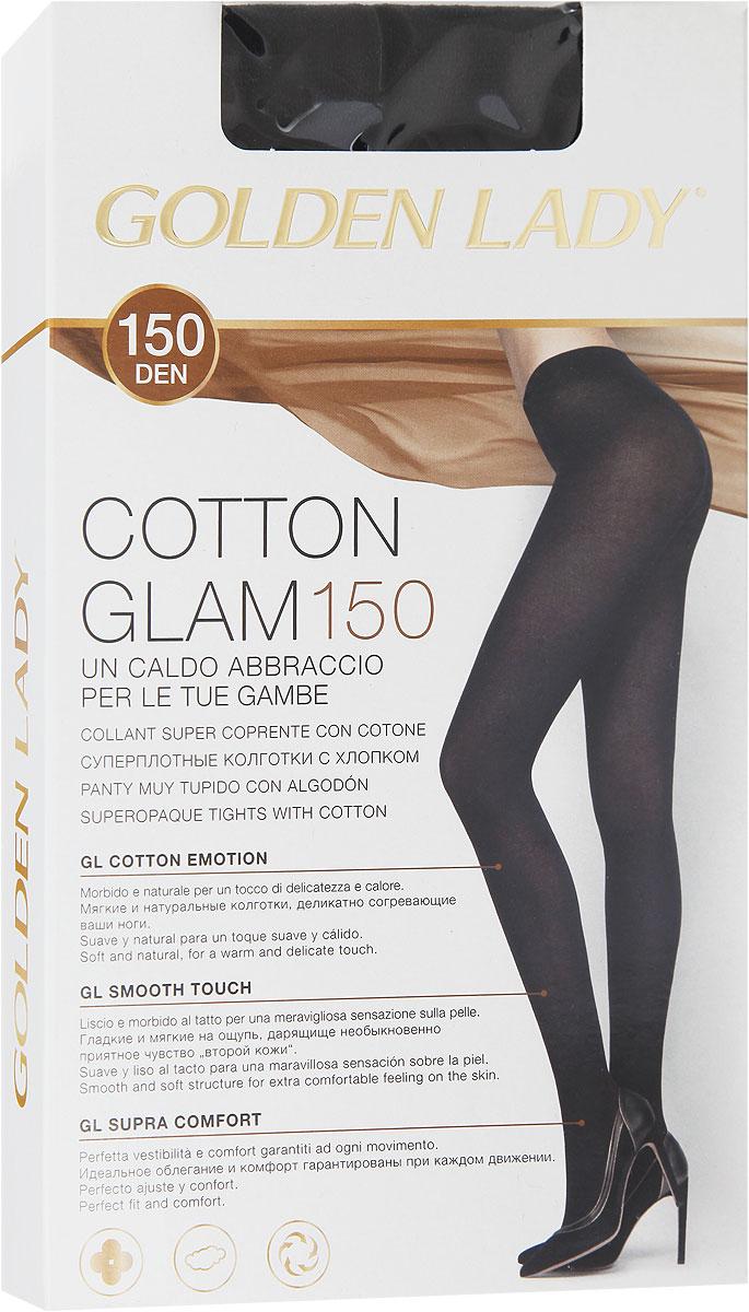 Колготки женские Golden Lady Cotton Glam 150, цвет: Nero (черный). 24JJJ. Размер 4 (46/48) golden lina колготки оптом
