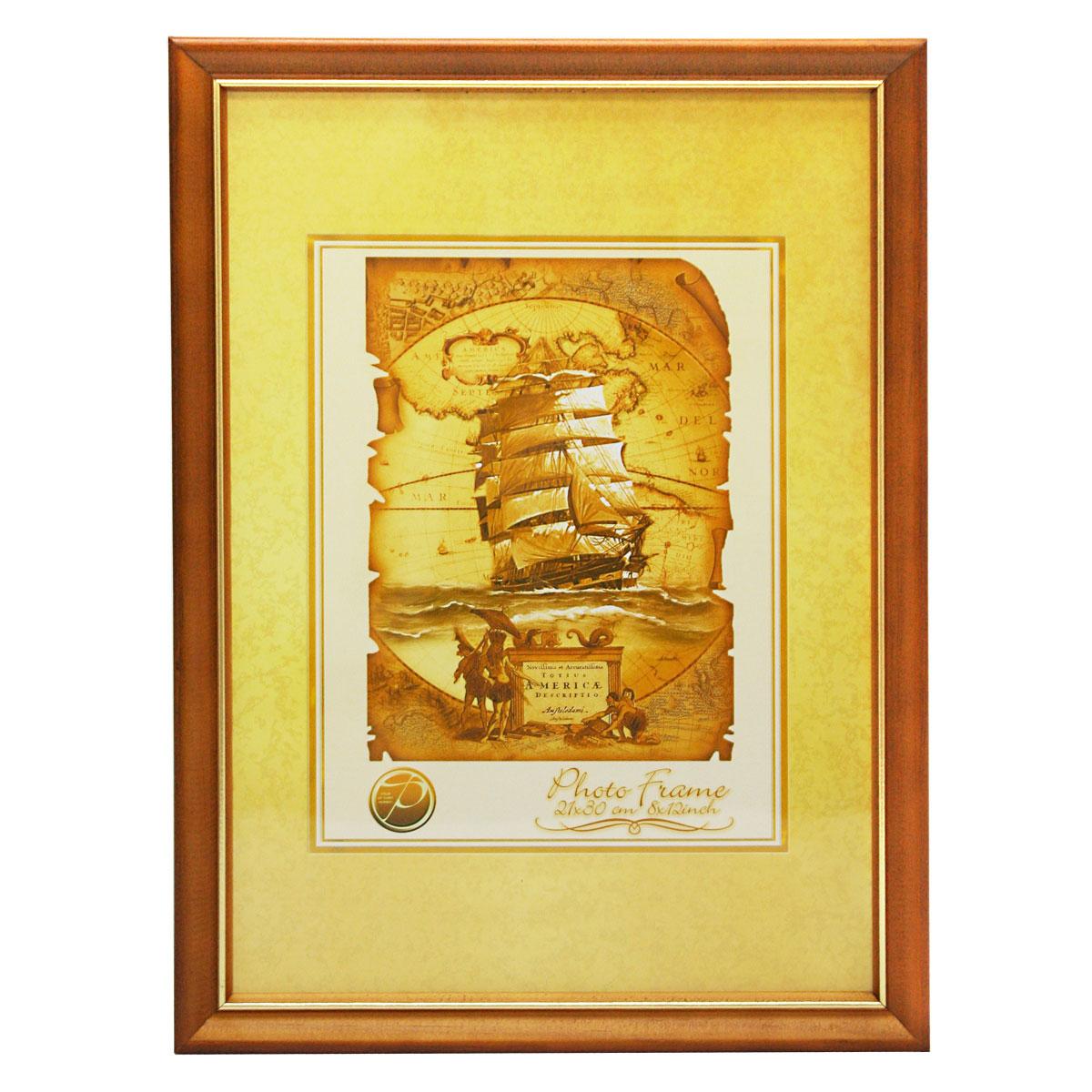 Фоторамка Pioneer Nancy, цвет: светло-коричневый, золотистый, 21 см х 30 см6300155_св. коричневыйФоторамка Pioneer Nancy выполнена из высококачественного дерева и стекла,защищающего фотографию. Оборотная сторона рамки оснащена специальной ножкой,благодаря которой ее можно поставить на стол или любое другое место в доме или офисе. Такжена изделии имеются два специальных отверстия для подвешивания. Такая фоторамка поможетвам оригинально и стильно дополнить интерьер помещения, а также позволит сохранить памятьо дорогих вам людях и интересных событиях вашей жизни. Размер фотографии: 21 см х 30 см.