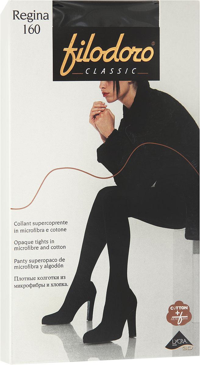 Колготки женские Filodoro Classic Regina 160, цвет: Nero (черный). C113558CL. Размер 2 (40/42)