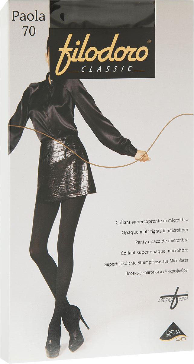 Колготки женские Filodoro Classic Paola 70, цвет: Nero (черный). C115077FC. Размер 5 (48/50)