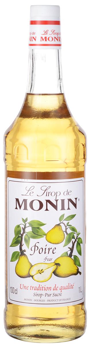 Monin Груша сироп, 1 лSMONN0-000061Сиропы Monin выпускает одноименная французская марка, которая известна как лидирующий производитель алкогольных и безалкогольных сиропов в мире. В 1912 году во французском городке Бурже девятнадцатилетний предприниматель Джордж Монин основал собственную компанию, которая специализировалась на производстве вин, ликеров и сиропов. Место для завода было выбрано не случайно: город Бурже находился в непосредственной близости от крупных сельскохозяйственных районов - главных поставщиков свежих ягод и фруктов. Производство сиропов стало ключевым направлением деятельности компании Monin только в 1945 году, когда пост главы предприятия занял потомок основателя - Пол Монин. Именно под его руководством ассортимент марки пополнился разнообразными сиропами из натуральных ингредиентов, которые молниеносно заслужили блестящую репутацию в кругу поклонников кофейных напитков и коктейлей. По сей день высокое качество остается базовым принципом деятельности французской марки. Сиропы Монин создаются исключительно из натуральных ингредиентов по уникальным технологиям, позволяющим сохранять в готовом продукте все полезные свойства природного сырья.Эксперты всего мира сходятся во мнении, что сиропы Monin - это законодатели мод в миксологии. Ассортимент французской марки на сегодняшний день является самым широким и насчитывает полторы сотни уникальных вкусовых решений. В каталоге компании можно найти как классические вкусы для кофейных напитков (шоколадный, ванильный, ореховый и другие сиропы), так и весьма экзотические варианты (сиропы со вкусом кокоса, зеленой мяты, тирамису, блю курасао, аниса, грейпфрута, пина колады и т. д.) Отметим, что все сиропы обладают мягкими, деликатными вкусороароматическими характеристиками, что говорит о натуральном составе продуктов.Описание: Груша - древний фрукт, культивируемый с античности и отдаленно связан с яблоками. Плоды груши очень разнообразны. Существует несколько форм, цветов и вкусов. Диапазон цветов от светло